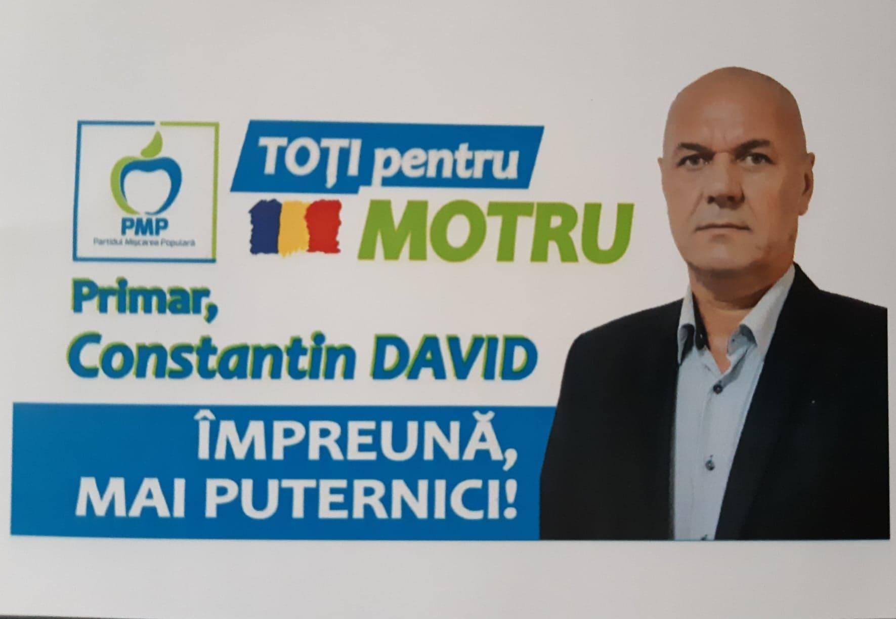 Constantin David, Candidat, Primaria Motru