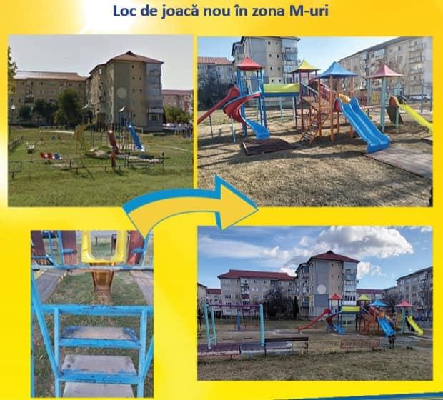 Primaria Motru, Modernizare, Locuri de joaca